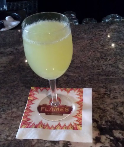 My mimosa glass, which they kept perpetually full until my departure