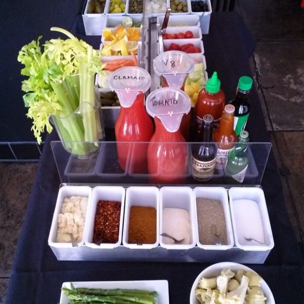 $5 bloody mary bar